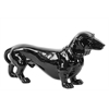 Benzara Timid Standing Ceramic Black Dog