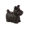 Benzara Charming & Cute Ceramic Dog Matte In Black