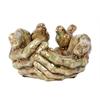 Hand Themed Green Colored Ceramic Bird Feeder