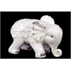Embellished W/ Beautiful Motifs Adorable Ceramic Elephant In White