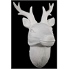 Porcelain Deer Head Wall Decor Matte White