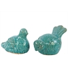 Ceramic Birds Set Of Two - Turquoise
