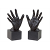 Resin Open Palm Hand Bookend Set Of Two