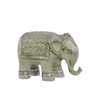Resin Persian Elephant Figurine Small Matte Beige