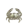 Resin Crab Figurine Small Matte Silver