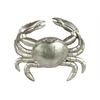 Benzara Resin Crab Large Matte Silver