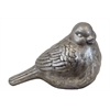 Benzara Antiquated & Adorable Chirping Ceramic Bird In Silver Finish