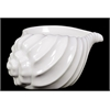 Beautiful, Glossy & Shiny Ceramic Shell Showpiece In White Large