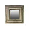 Metal Square Wall Mirror Pierced Metal Gold