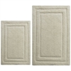 CHB015-1 Classic 2 Pc Bath Rug Set, Creame