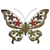 Charming Metal Butterfly Decor With Stones, Multicolor