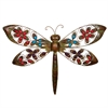 Benzara Colorful Metal Dragonfly Decor With Stones