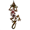 Ravishing Metal Gecko Decor With Stones, Multicolor