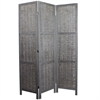 Benzara Sophisticated Paulownia Room Divider In Grey Finish