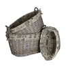 Benzara Purposeful 3Pc Basket Set