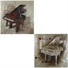 Benzara Set Of 2 Assorted Spectacular Piano Oil Painting