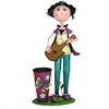Benzara Multihued Funky Metal Planter - Girl
