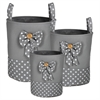 Appealing, Cute Polyester Storage Set Of 3Pc Round