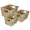 Creatively Wave 3Pc Rectangle Water Hyancinth Basket