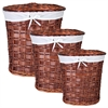 Benzara Chinese Inspired 3Pc Oval Willow Hamper