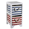 Benzara Quirky Paulownina Bin Storage 2 Drawer