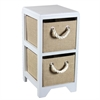 Benzara Compact Bin Storage 2 Drawer