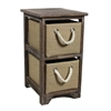 Benzara Smart, Likable Bin Storage 2 Drawer