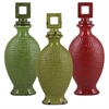 Benzara Set Of 3 Assorted Elegant Chinese Ceramic Jars