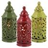 Benzara Set Of 3 Assorted Chic Looking Ceramic Lantern Jars