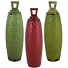Benzara Set Of 3 Assorted Classy Ceramic Jars