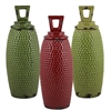 Benzara Set Of 3 Assorted Classic Ceramic Jars