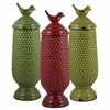 Benzara Set Of 3 Assorted Outstanding Ceramic Jars