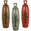 Benzara Set Of 3 Assorted Creatively Styled Ceramic Jars