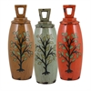 Benzara Set Of 3 Assorted Artistically Made Ceramic Jars