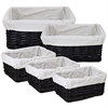 Benzara Modish And Useful 5Pc Willow Utility Basket