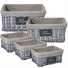 Stylish & Sturdy 5Pc Willow Utility Basket