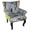 Benzara Enthralling And Lovely Fabric Wooden Chair
