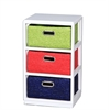 Colorful Wooden Cabinet - 3Drawer