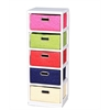 Benzara Lively Wooden Cabinet - 5Drawer