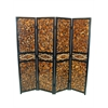 Benzara Attractive 4 Panel Room Divider
