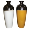 Trendy Ceramic Vase - 2 Assorted, White, Brownsh-yelow
