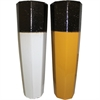 Trendy Ceramic Vase-  2 Assorted, Black, white, yellow