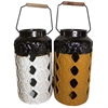 Excellent Ceramic Jar- 2 Assorted, Yellow, White, Black