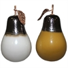 Stylish 2 Piece Ceramic Pear - Assorted, Yellow, White, Black