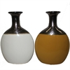 Excellent Ceramic Vase - 2 Assorted, Yellow, White, Black