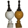 Alluring Ceramic Decor - 2 Assorted, Yellow, White, Black
