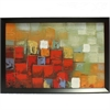 Inventive Abstract Canvas Oil Painting, Multicolor