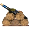 Sturdy Wine Holder - 5 Barrel - Polyresin, Natural wood