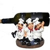 Stylish Chef Wine Holder Polyresin, Multicolor
