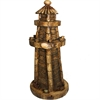 Smartly Styled Light House Polyresin, Natural wood